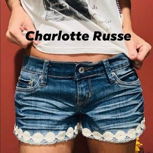 Charlotte Russe Embroidered Shortie✌️